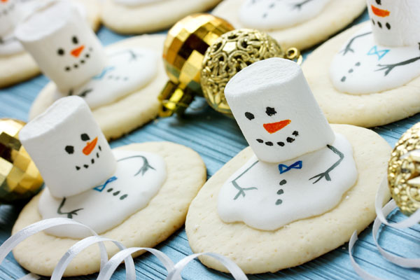 Christmas treats melting snowmen