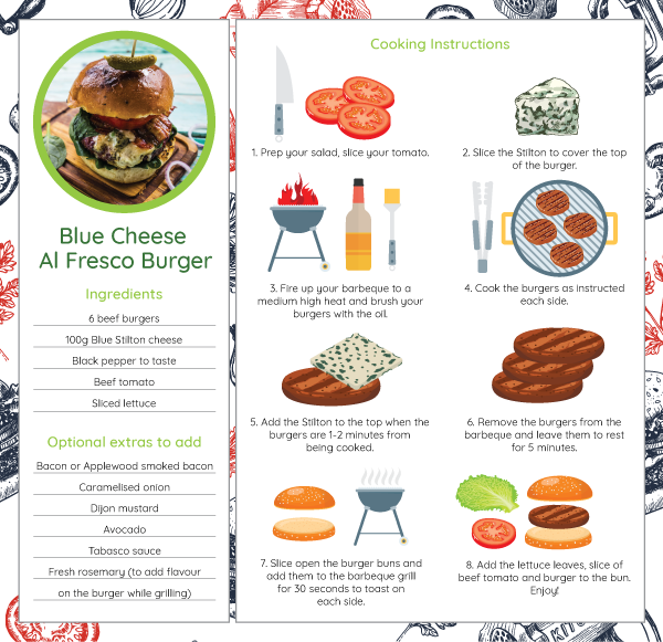 BBQ Recipe: The Blue Cheese Beef, Veggie or Vegan Burger